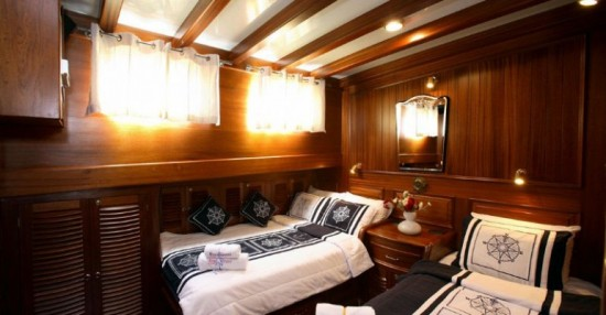 Cabine à deux lits