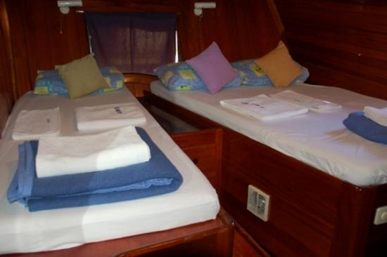 Cabine avec 3 couchettes