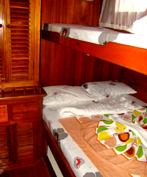 Cabine avec lits